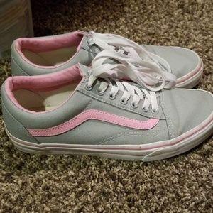 Grey and Pink VANS Women's size 8.5
